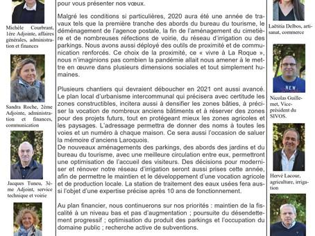 INFO LA ROQUE-GAGEAC Voeux du conseil municipal