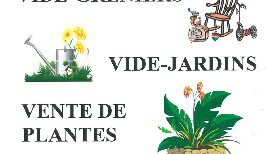 VIDE-GRENIERS VIDE-JARDINS