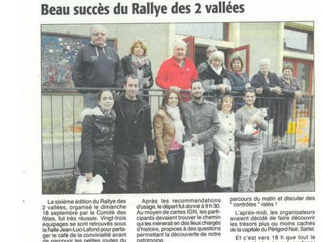 """Comité des fêtes """"Rallye des 2 vallées"""""""