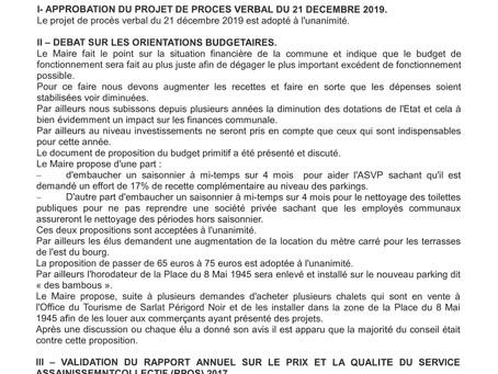 PROCÈS VERBAL DE LA RÉUNION DU CONSEIL MUNICIPAL DU VENDREDI 22 MARS 2019