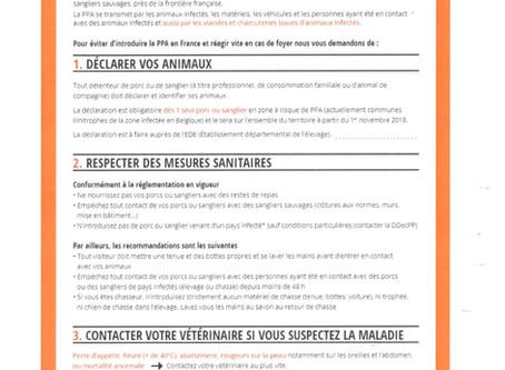 DÉCLARATION OBLIGATOIRE POUR LE DÉTENTEUR DE PORCS ET DE SANGLIERS