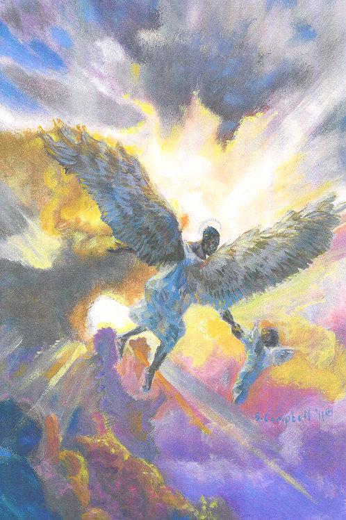 Reaching Angel -Wall Print