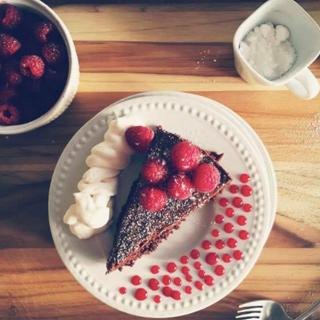 Chocolate Torte + Raspberry Sauce.png
