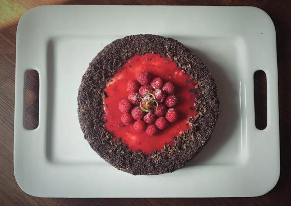 Chocolate Raspberry Vanilla Cheesecake.p