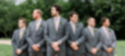 Brett with groomsmen and boutonnières
