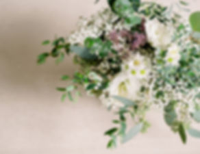 Brett & Emily closeup of arrangement