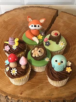 Woodland Creatures Cupcakes £55