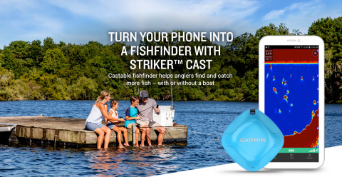 Turn your phone into a fishfinder with Garmin's new STRIKER Cast