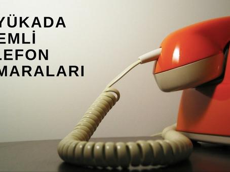 Büyükada'ya ait önemli telefonlar