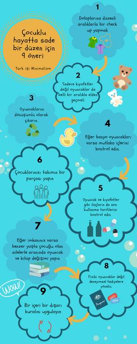 Çocuklu hayatta sade bir düzen için 9 öneri