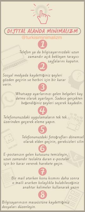 8 adımda dijital minimalizm