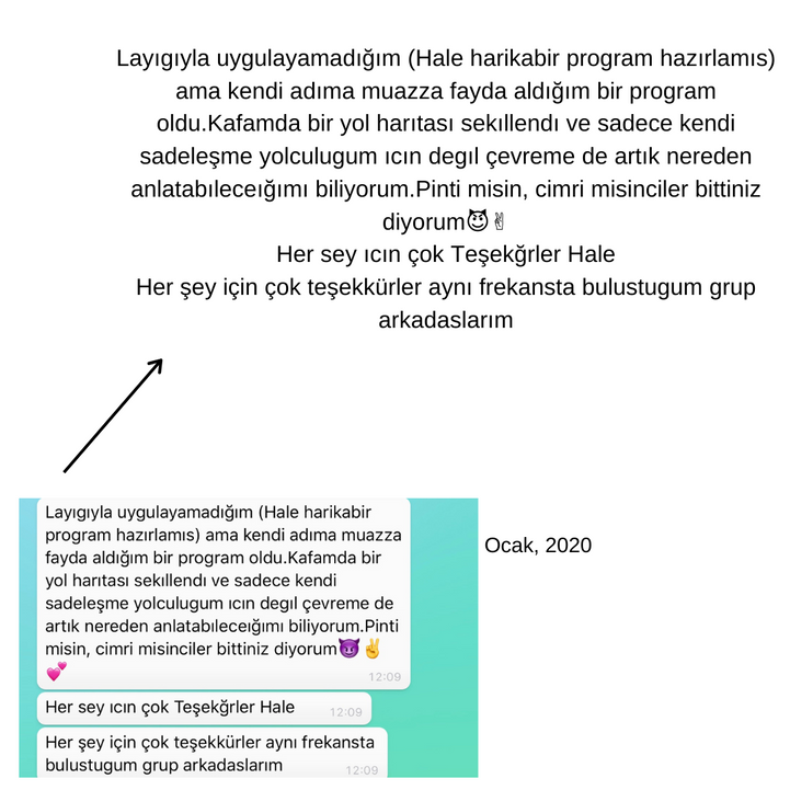 Ocak 2020 Sadeleşerek Özgürleş Çalışması
