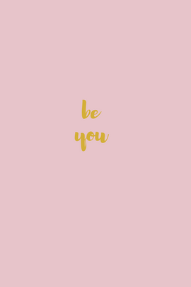 Be you minimalist telephone wallpaper