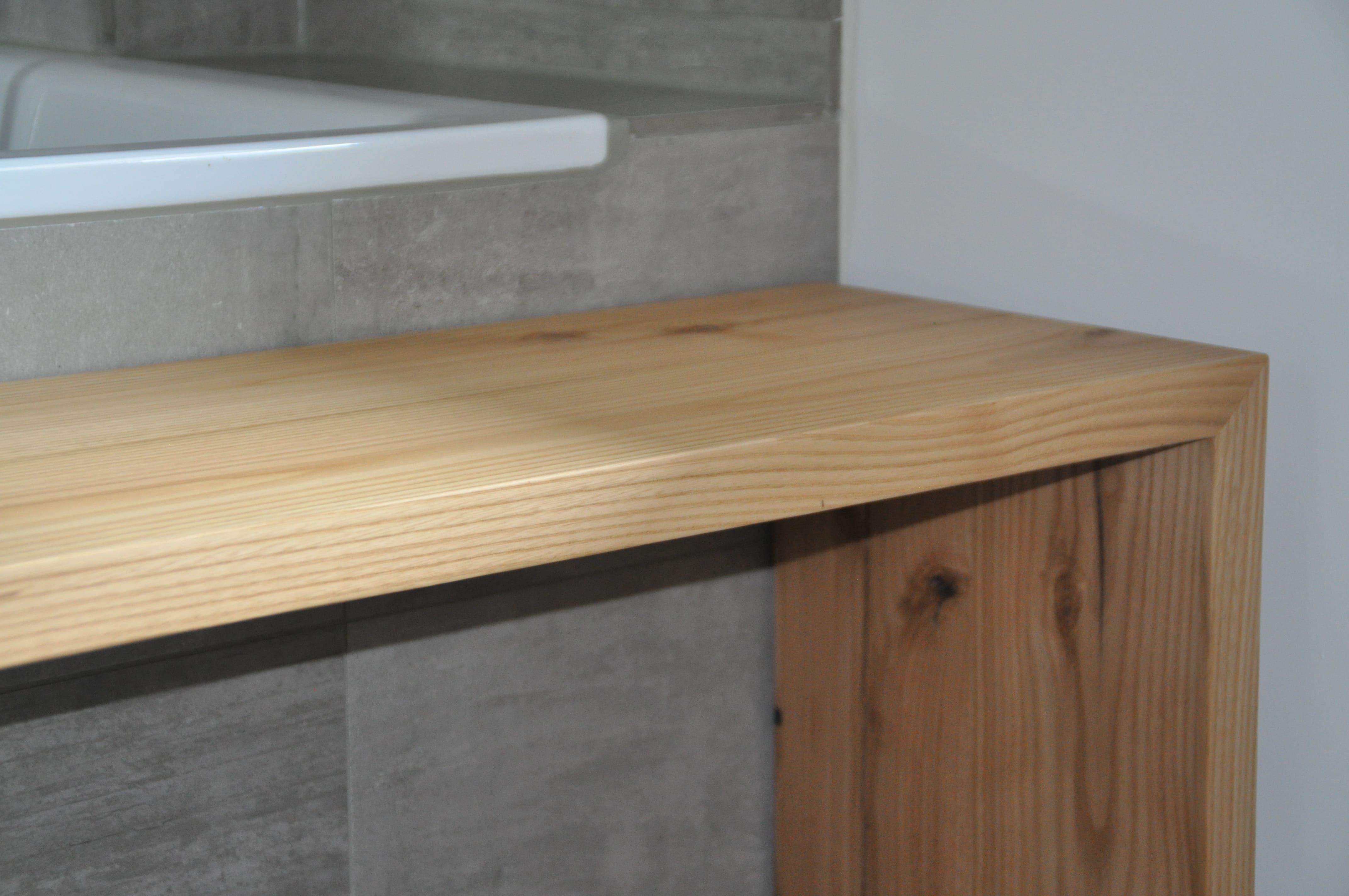 Bank Bad Badezimmer Badewanne Holz