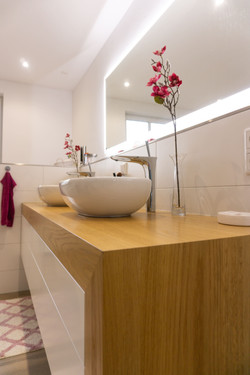 Badezimmer Waschbecken Holz