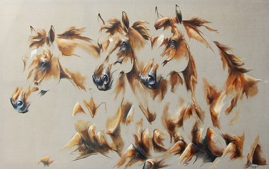 peinture laetitia plinguet chevaux