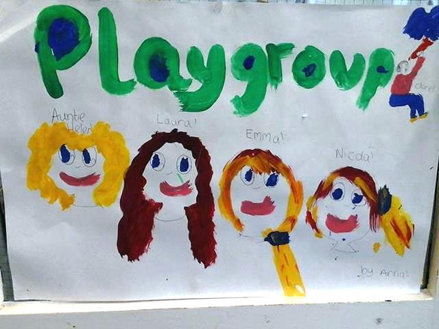 Hiraddug Playgroup kids painting