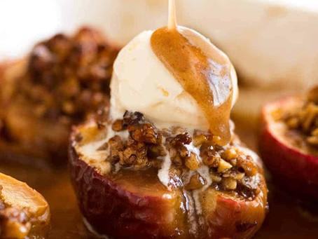 Caramel Pecan Baked Apples