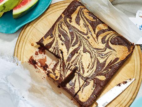 Swirled Tahini Brownies