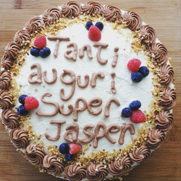 Tree layer chocolate cake