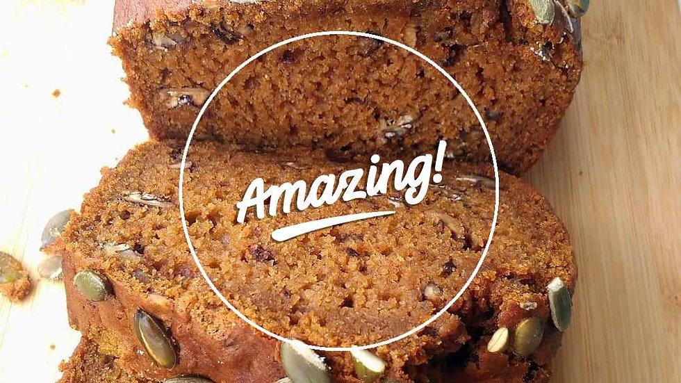 (Vegan) Pompoencake brood