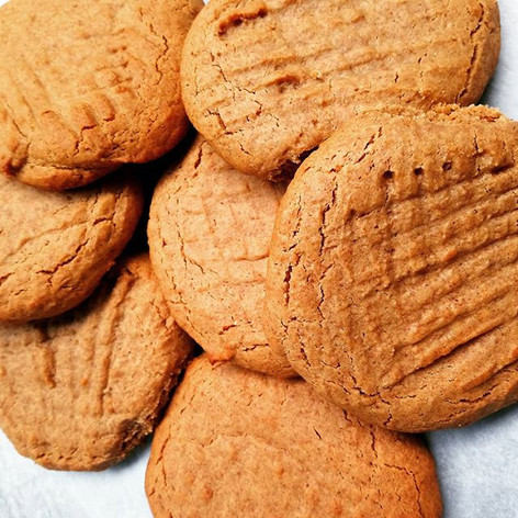 Wholw wheat peanut butter cookies