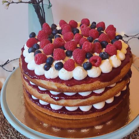 Naked Victoria Sponge Cake