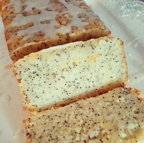 Lemon & almond drizzled cake