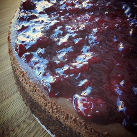 Choco-coffee cheesecake