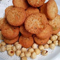 Hazelnut madeleines