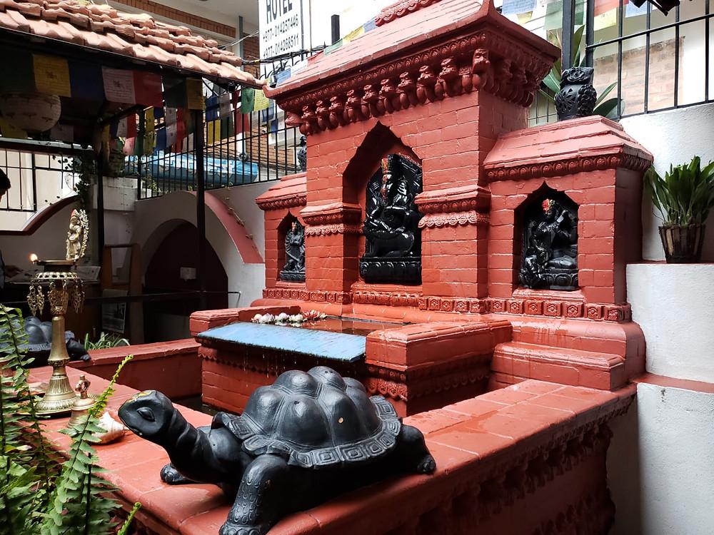 Altar at the Kathmandu Boutique Hotel
