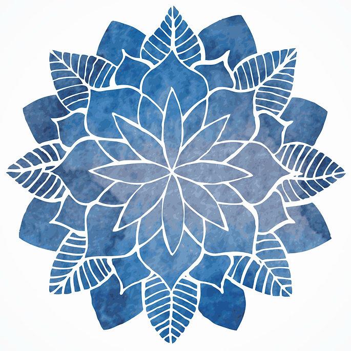 Intuitive Indigo mandala logo
