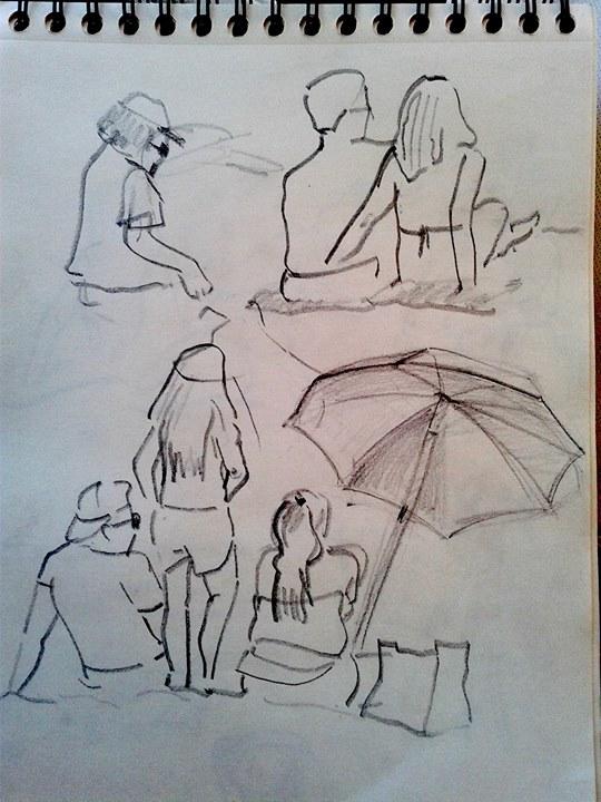 Personas playa