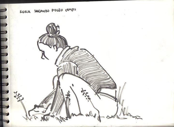 Sofía sacando Poleo
