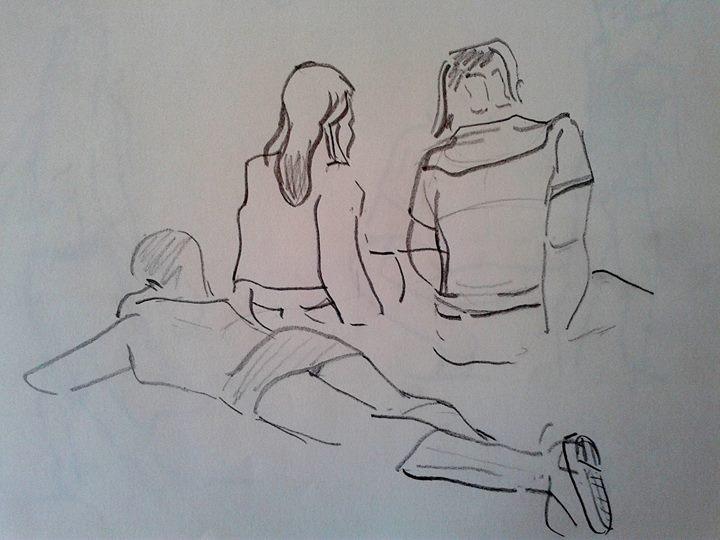 Chicas tomando sol