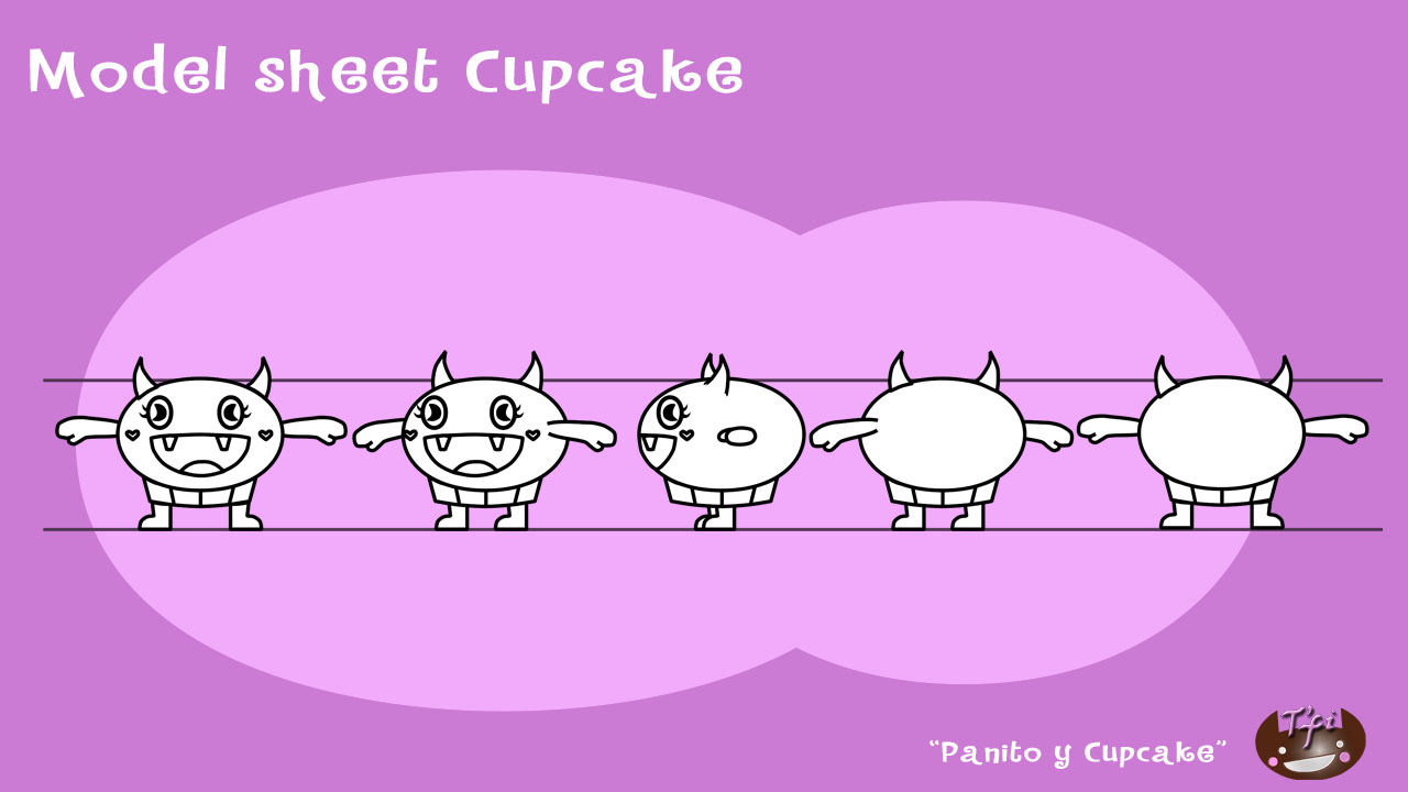 Model sheet Cupcake
