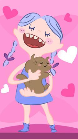 Laura y su gatito