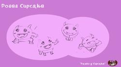 Poses cupcake