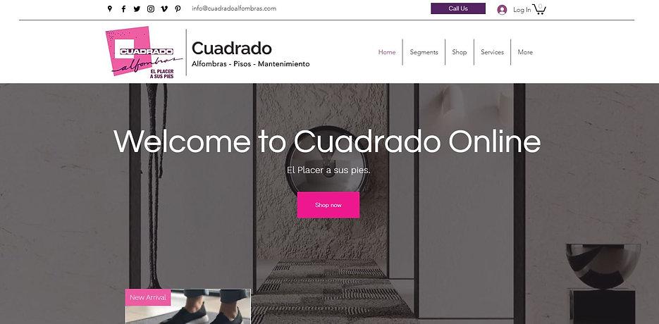 Caixeta Web Design | Web develpoment | Cuadrado Alfombras Online