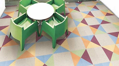 VCT flooring, Tarkett, Cuadrado Alfombras