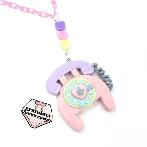Call Me Cutie! Rotary Phone Necklace