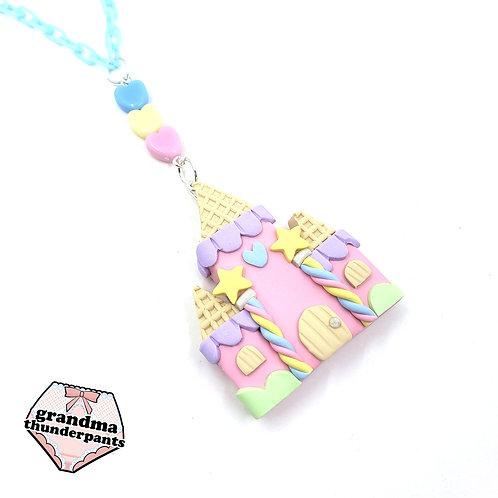 Pastel Candy Castle Necklace