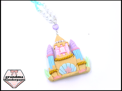 Mermaid Princess Castle Necklace