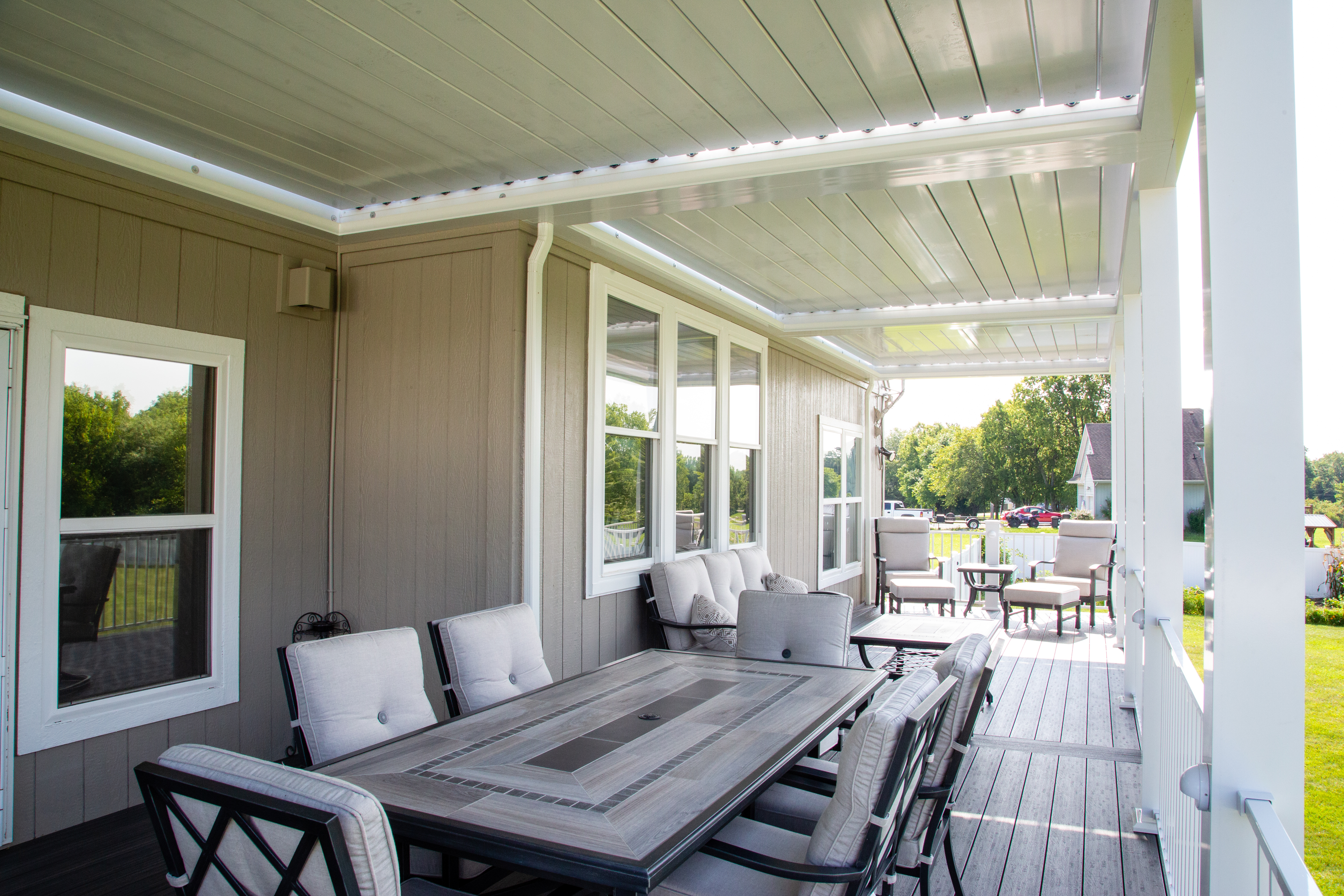 Designer look Louvered Roof