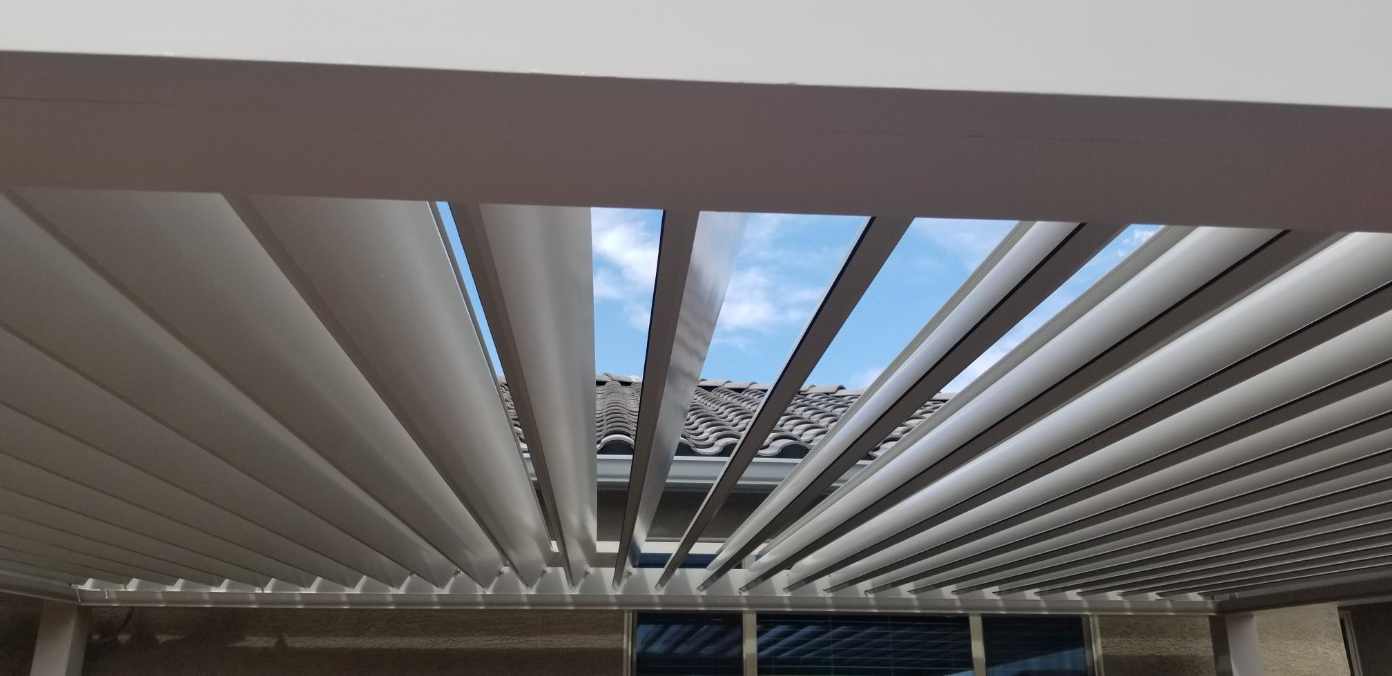 Large strong louvers