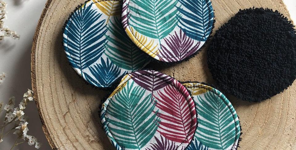 Collection de mini-cotons (ongles, voyage, enfant) motif feuilles
