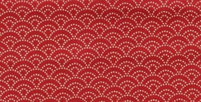 Petites vagues rouges / parme