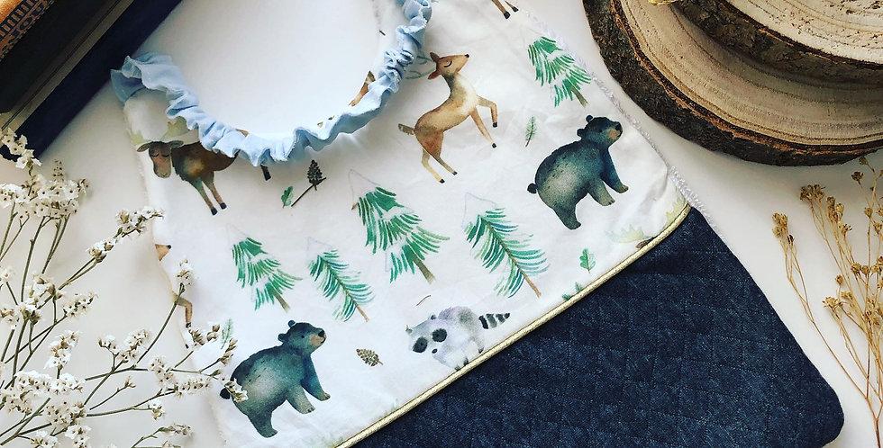 La serviette de cantine animaux des bois