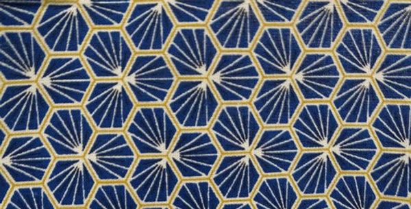 Géométrique bleu et or