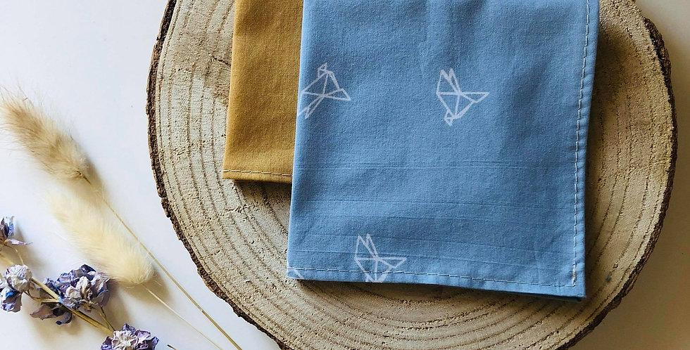 Origami oiseaux Bleu clair